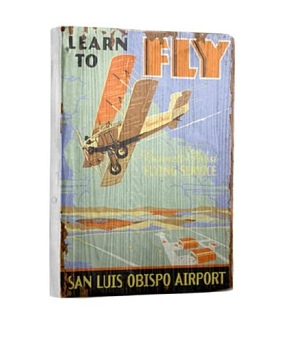 Artehouse Learn to Fly Reclaimed Wood Sign As You See