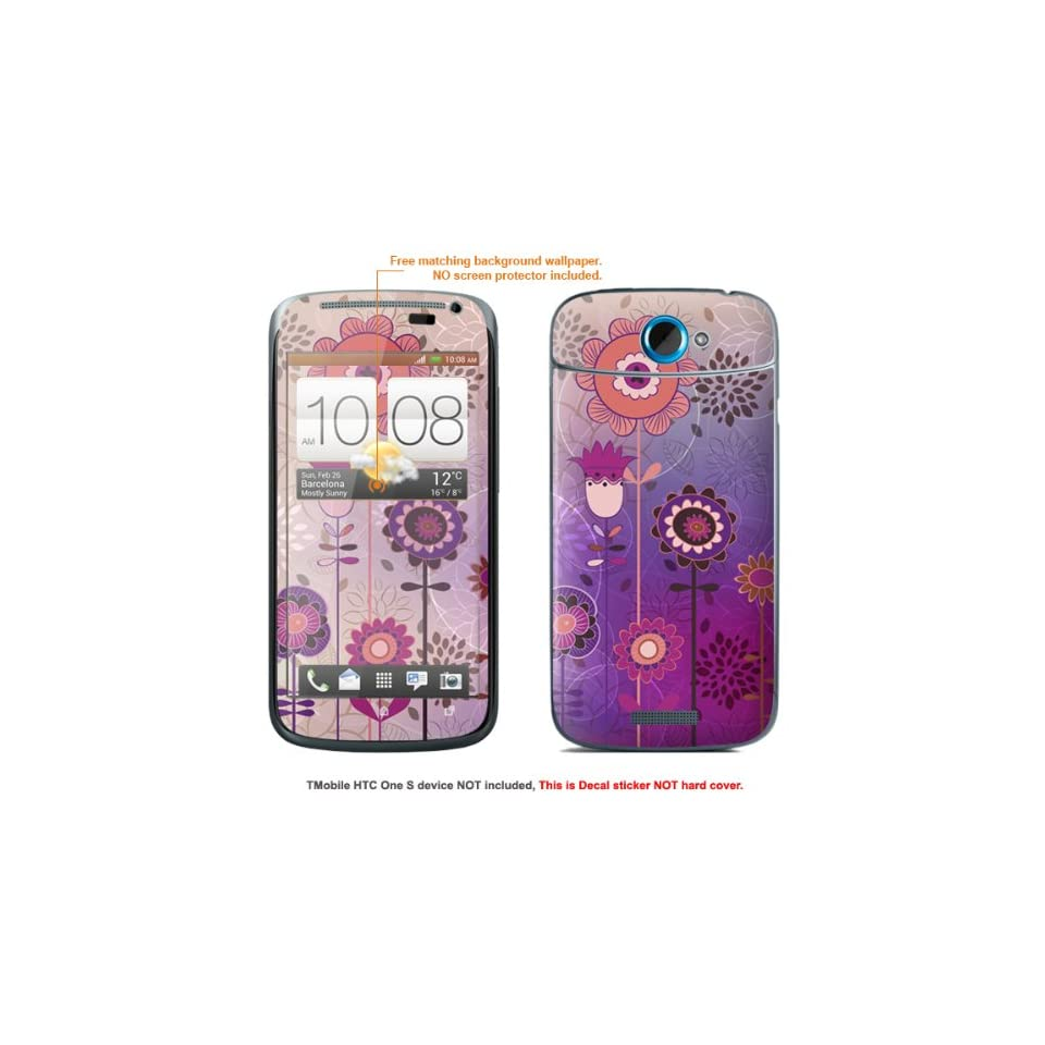 Protective Decal Skin Sticker for T Mobile HTC ONE S  T Mobile version case cover TM_OneS 83