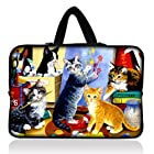 15 Colorful Cats Neoprene Laptop Netbook Soft Case Sleeve Bag Pouch+Hide Handle For 15.6 HP Pavilion G6 DV6 Toshiba Dell XPS