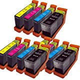 12x Lexmark L-100XL L-108XL High Capacity Ink Cartridges Compatible for Lexmark Impact S305, S815, Lexmark Interact S605, Lexmark Interpret S405, Lexmark Intuition S505, Lexmark Pinnacle Pro 901, Lexmark Platinum Pro 905, Lexmark Prestige Pro 805, Lexmar