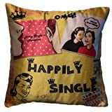 Bandbox HAPPILY SINGLE - CUSHION COVER (Size:- 16 In. X 16 In.)