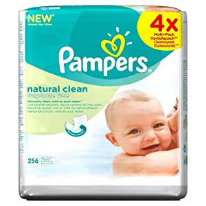 Pampers Natural Clean Wipes - (Pack of 4) (256 Wipes)