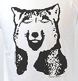 Tシャツ チベットスナギツネ オリジナルTシャツ L ホワイト