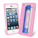 Celicious Pink Retro Cassette Tape Silicone Skin Case for Apple iPhone 5s / iPhone 5 Apple iPhone 5s Case Cover