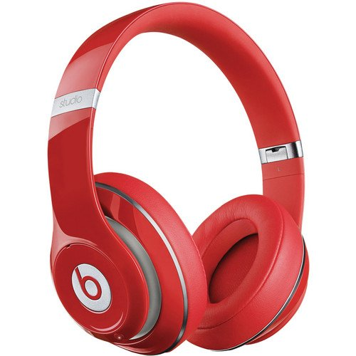 Beats By Dr. Dre Studio Over-Ear Headphones (Second Generation, Red) Bundle With Custom Design Zorro Sounds Instrument Cloth
