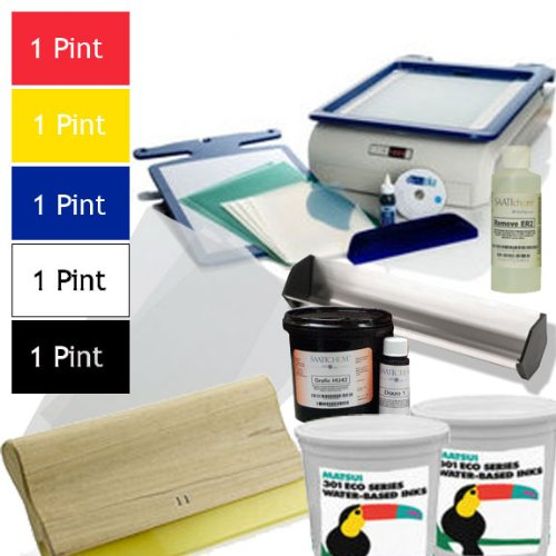 Great Deal on the Yudu Screen Printing Machine (Includes Yudu Machine, liquid emulsion, emulsion sheets, professional squeegee, emulsion remover concentrate, 5 pints of ink, transparencies)