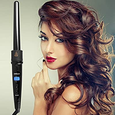 5 in 1 Molain LDC Display Hair Curling Tongs with Tourmaline Ceramic Barrels