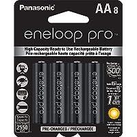 8-Pack Panasonic BK-3HCCA8BA eneloop Pro AA NiMH 2500mAh Battery