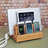 The G.U.S. Ultra Charging Station and Dock with Built-in Power Strip Storage By: Great Useful Stuff