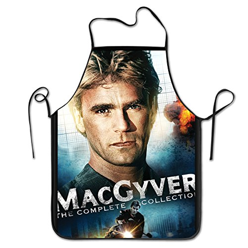 MacGyver Movie Poster Adjustable Kitchen Apron For Cooking Baking Barbecue