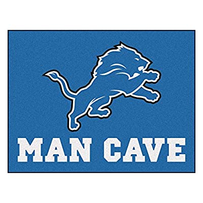 FANMATS 14300 NFL Detroit Lions Nylon Universal Man Cave All-Star Mat