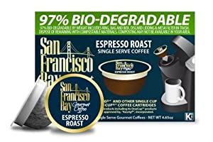 San Francisco Bay Coffee, Espresso Roast, 36 OneCup Single Serve Cups