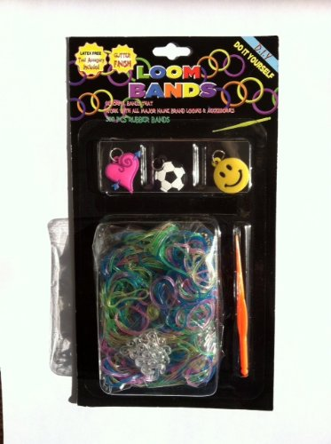 Loom Bands Kit Glitter Finish with Tool Accessory