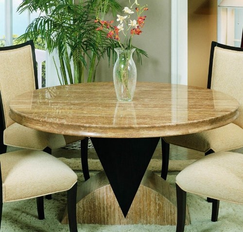 Buy Low Price Armen Living Alexis Round Dining Table by Armen Living (MALDICH60ROTO-M253DICHBA)