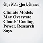 Climate Models May Overstate Clouds' Cooling Power, Research Says | John Schwartz