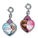 CHARM IT! Disney FROZEN Elsa & Anna Crown Heart Charms - 2 Charm Set