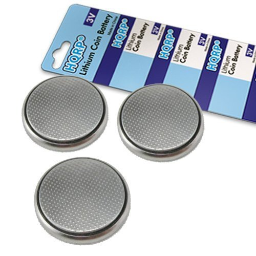 HQRP 3 Pack Lithium Coin Battery compatible with Sirius Starmate 3 Radio Remote Control plus Coaster