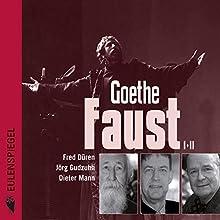 Faust I + II Hörbuch von Johann Wolfgang von Goethe Gesprochen von: Fred Düren, Jörg Gudzuhn, Dieter Mann