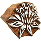 International Arrivals Blockwallah Wooden Stamp, Lotus Flower