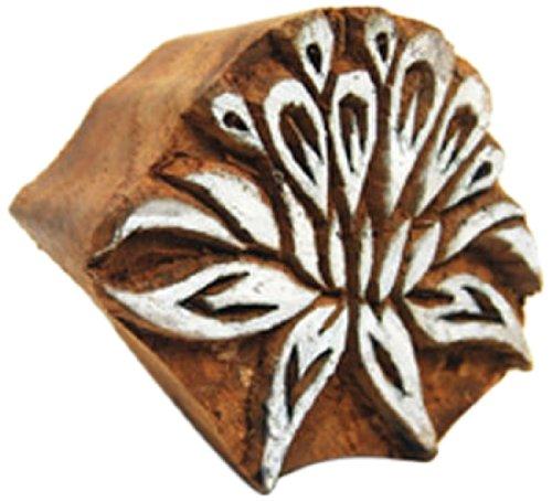 International Arrivals Blockwallah Wooden Stamp, Lotus Flower