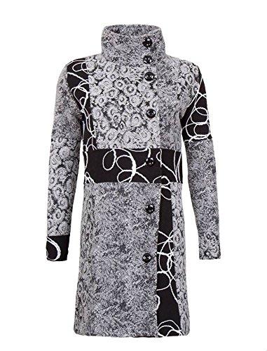 Sehr schöner Damen Luxus Winter Mantel Patchwork Trenchcoat S M L XL XXL 3XL 36 38 40 42 44 53