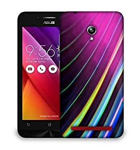 Snoogg Colour Lines Designer Protective Phone Back Case Cover For Asus Zenfone GO