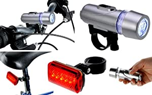 Silver Qualitäts Led Fahrradbeleuchtung Set