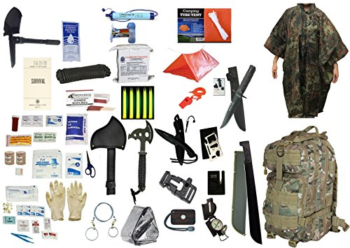 4 Person Supply 3 Day Emergency Bug Out S.O.S. Food Rations, Drinking Water, LifeStraw Personal Filter, First Aid Kit, Tent,