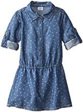 Egg by Susan Lazar Little Girls39 Dotted Chambray Dress