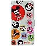 Disney ( ディズニー ) 手帳型 ケース カバー 多機種対応 Mサイズ カード収納 / 鏡 / ストラップ / スマホケース / 横開き Arrows Galaxy Xperia AquosGalaxy Xperia Aquos