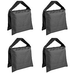 Neewer® Heavy Duty Photographic Sandbag Studio Video Sand Bag for Light Stands, Boom Stand, Tripod -4 Packs Set