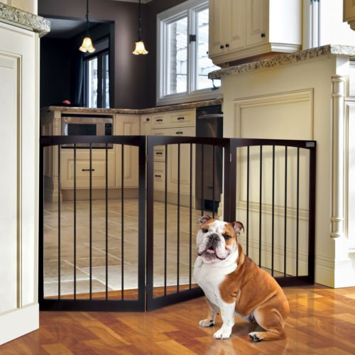 Animal Planet Free Standing Wooden Pet Gate front-1006295