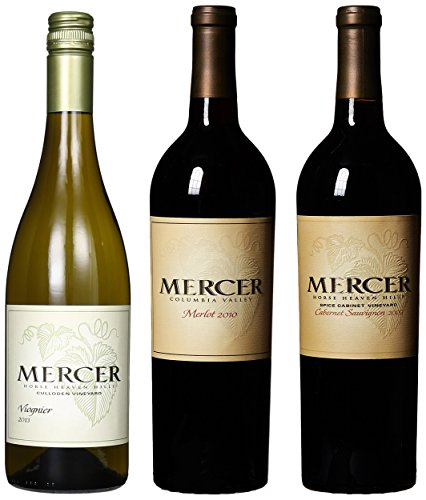 "Mercer Estates ""Holiday Pairings"" Cab, Merlot & Viognier Mixed Pack, 3 X 750 Ml"