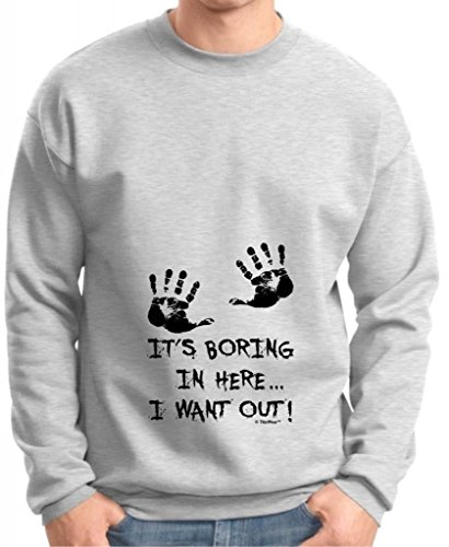 It'S Boring In Here I Want Out Maternity Themed Premium Crewneck Sweatshirt Large Ash front-879048