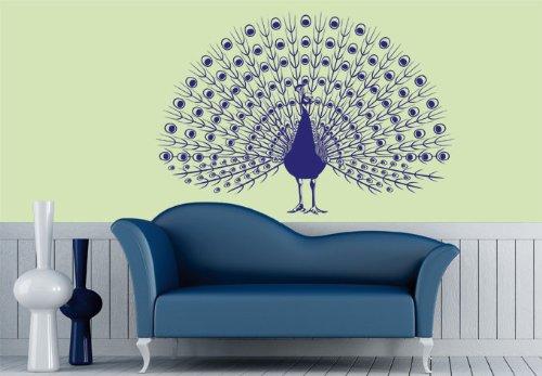 Wall Vinyl Sticker Decals Decor Art Bedroom Design Mural Peacock Bird Animal (Z989) front-888782