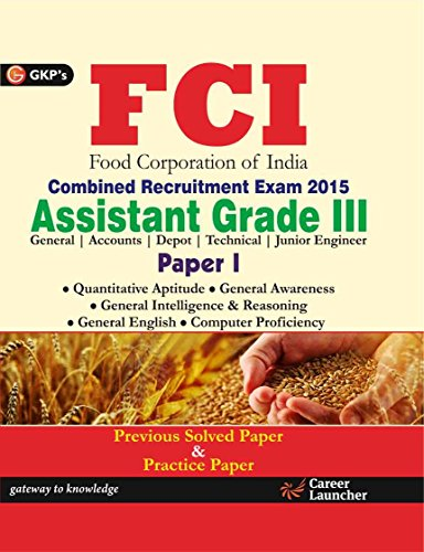 FCI Assistant Grade III Paper -1: Food Corporation of India Combined Recruitment Exam 2015 Image