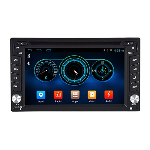 Henhaoro 1024x600 Quad Core WiFi Android 4.4 6.2-Inch Dash 2 Din Car Navigation Player System