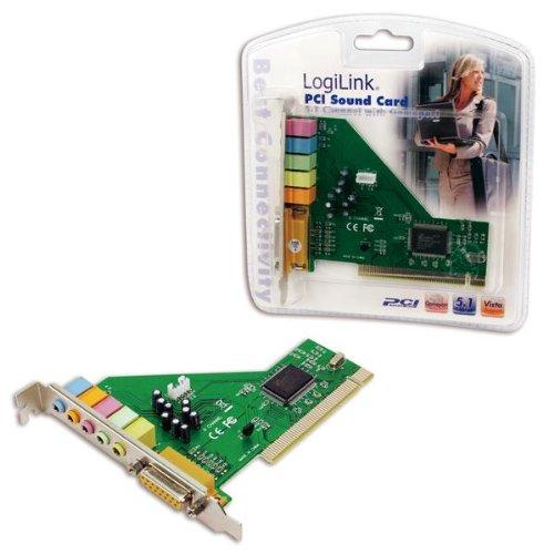 LogiLink Multi Channel PCI Soundkarte - Desktop PCI Soundkarte - PCI 32 bit - integrierte 5.1 Decoder - 2, 4, 6 Channel speaker mode - Funktionen: 2.0, 2.1, 4.0, 4.1, 5.1 - volle-LWL Duplex Wiedergabe und Aufnahme Spiel und MIDI - 64 bit sound effect - Direct sound 3D und A3D Interface