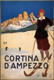 Vintage Travel ITALY See CORTINA d'AMPEZZO 250gsm ART CARD Gloss A3 Reproduction Poster