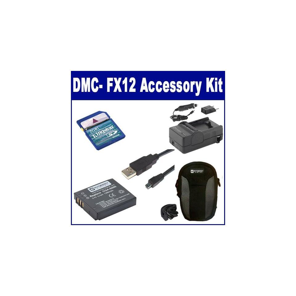 Panasonic Lumix DMC- FX12 Digital Camera Accessory Kit Includes: SDCGAS005 Battery SDM-161 Charger KSD2GB Memory Card SDC-22 Case