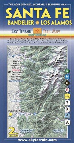 Santa Fe, Bandelier & Los Alamos Trail Map 2nd Edition PDF