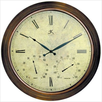 Infinity Instruments Indoor/Outdoor Metal Weather Clock