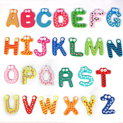 DATEWORK-Colorful-Cute-26-Letters-Wooden-Cartoon-Fridge-Magnet-kids-Baby-Educational-Toy
