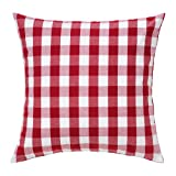"Ikea Smanate Cushion Throw Pillow Cover Red 20 X 20"" 100% Cotton with Zipper"