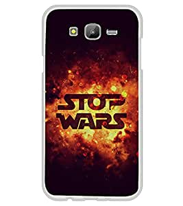 Stop Wars 2D Hard Polycarbonate Designer Back Case Cover for Samsung Galaxy On7 G600FY :: Samsung Galaxy On 7 (2015)