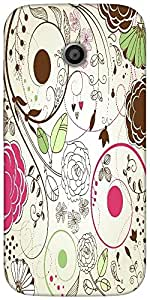 Snoogg Retro Floral Backgroundsolid Snap On - Back Cover All Around Protectio...