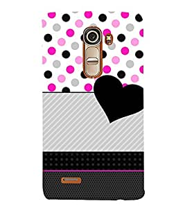 Love Dotted Pinkish Pattern 3D Hard Polycarbonate Designer Back Case Cover for LG G4 Mini :: LG G4C
