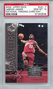 LeBron James 2004 Upper Deck National Trading Card Day rookie PSA graded PSA 10 GEM MINT