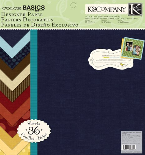 K&Company Designer Paper Pad, Color Basics Imbue, 