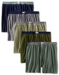 Fruit of the Loom Men\'s 5Pack Knit Boxer Shorts Boxers Cotton Underwear 2XL